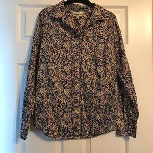 gently used J CREW button up shirt